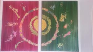 Die Dualseelen2 x   50x70 cm